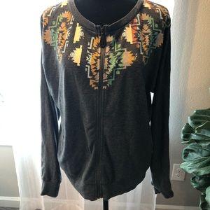 Women's Zip Up Sweatshirt O'Neil- size large
